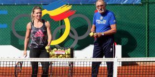 FOTO Simona Halep a jucat tenis cu Ion Tiriac: