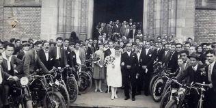 Povestea fotografiei de la o nunta de bikeri, in Timisoara anului 1927
