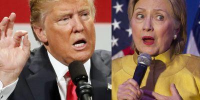 Clinton si Trump, la un pas de coliziunea frontala