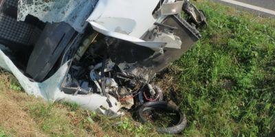 Tragedie in Ungaria. Un barbat din Bihor a murit intr-un teribil accident dupa ce s-a izbit de un microbuz