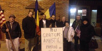 Romanii din Cleveland, impotriva amnistiei si gratierii. Protest in fata celei mai vechi biserici romanesti din SUA