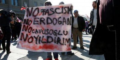 Turcia l-a convocat pe reprezentantul diplomatic al Elvetiei in urma protestelor anti-Erdogan din Berna