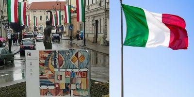 Primarul din Sfantu Gheorghe celebreaza Ziua Maghiarilor de Pretutindeni cu drapelul Italiei