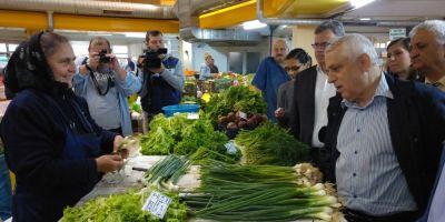 VIDEO Petre Daea a facut piata in Targoviste la ora 7 dimineata: